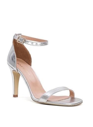 Sole Sisters Sole Sisters Manas2 Gümüş Kadın Topuklu Ayakkabı Gümüş